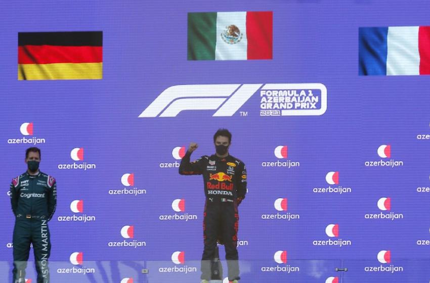 Formula 1 Azerbaycan GP'de Zafer Sergio Perez'in